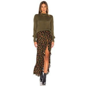 Jen's Pirate Booty Ana Ruffle Floral Maxi Skirt S